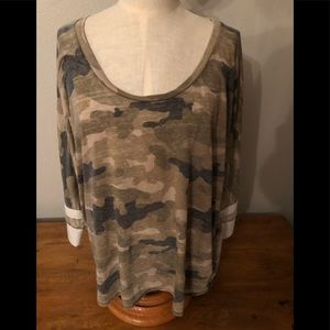 Express One Eleven Camouflage Top Size Large